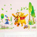 Pooh bear cute kindergarten children's room animal cartoon wall sticker wall adhesive paper