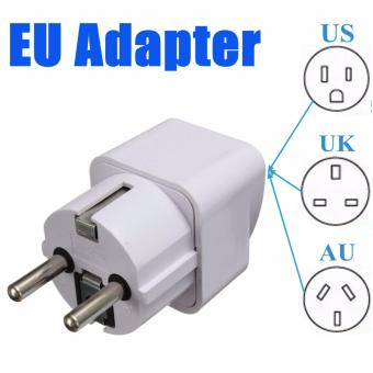 Portable UK US AU to EU European 2Pin Power Socket Plug Adapter Travel Converter Universal