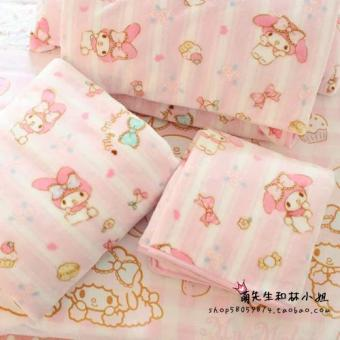 Powder toot cute flannel super soft bedsheet blanket