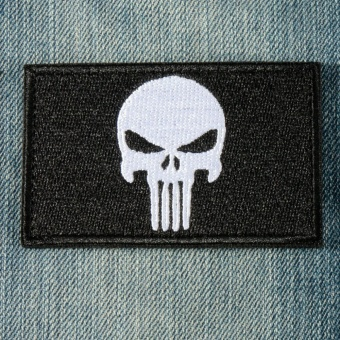 PUNISHER SKULL SWAT OPS ARMY MILITARY TACTICAL MORALE PATCH ARMY GREEN Black - intl