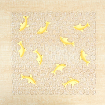 Puwangrenjia dolphin bathroom with suction bathroom anti-slip mat