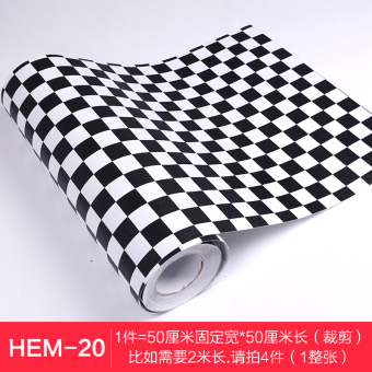 PVC black and white bathroom waterproof adhesive paper Wallpaper