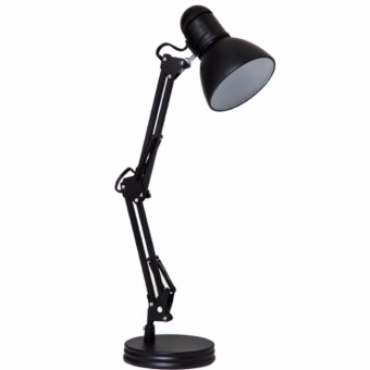Quality Metal Adjustable Arm Work Desk Lamp Table Lamp (Black)