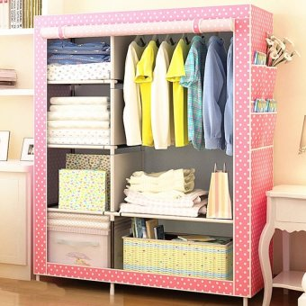 Quality Multifunction Fashion Cloth Wardrobe (Pink) Price Philippines