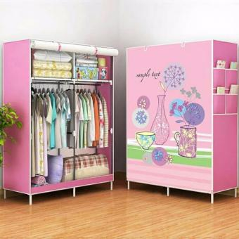 RB-8802 DIY Panoramic Pattern 3D Wardrobe Closet Clothes Organizer(Flowers)