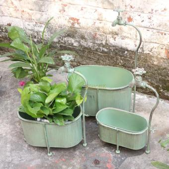 Retro European American home wrought iron flower pots