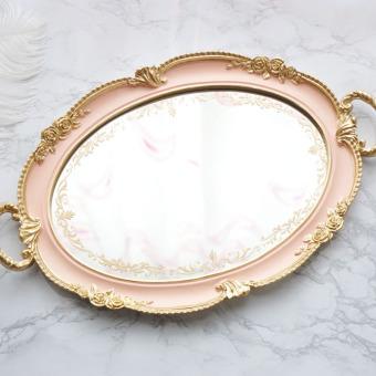 Retro mirror quality luxury tea tray