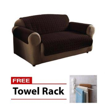 Reversible Couch Coat Cover Long with Free Towel Rack