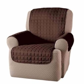 Reversible Single Couch Coat Recliner Cover (Brown/Beige)