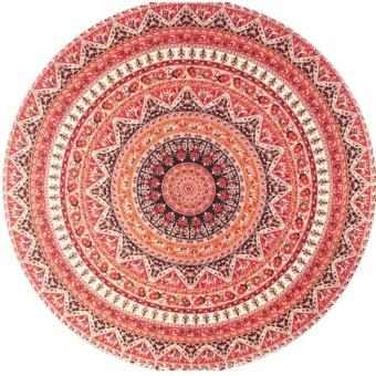 Round Hippie Tapestry Beach Throw Roundie Mandala Towel Yoga Mat Bohemian - intl