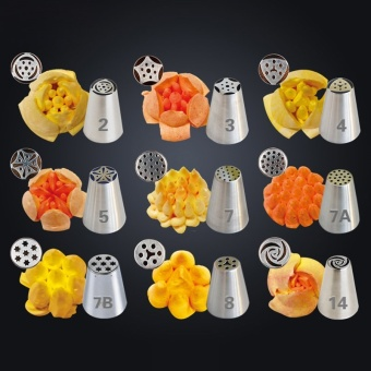russian icing piping tips stainless steel nozzles sugarcraftdecoration fondant wedding cake decorating tools kitchen accessorie- intl