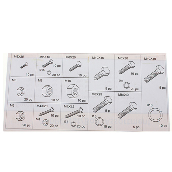 S & F 240PC Nut And Bolt Washer Lock Assortment Set in StorageCase M4 M5 M6 M8 M10 (Intl) Price Philippines
