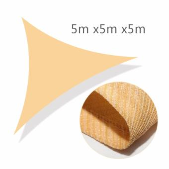 Shade Sail Triangle 5x5x5m Sun UV Block Tensile Resistant With Grommets Lawn Plant Care Patio Furniture Cover Canopy Sun Shelter Desert Sand Color - intl