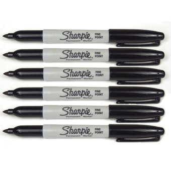 Sharpie Permanent Marker Fine Point Black set of 6