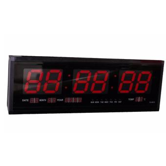 SHOP AND THRIFT LED Digital Calendar Wall Clock TL-4819 (Red LedLight)