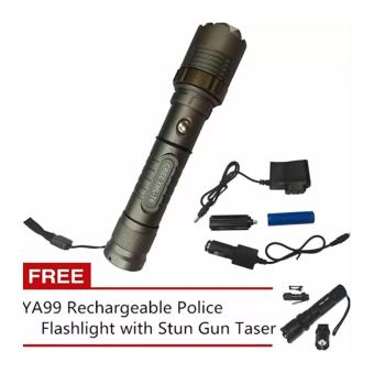 SKY-Z10 30000W GREE LED Ultra Bright Rechargeable Flashlight withFREE YA99 Rechargeable Police Flashlight with Stun Gun Taser