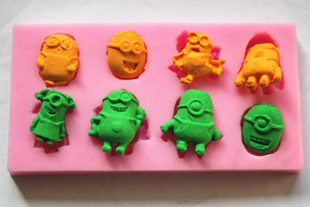 Small yellow people cake sugar silicone Mold