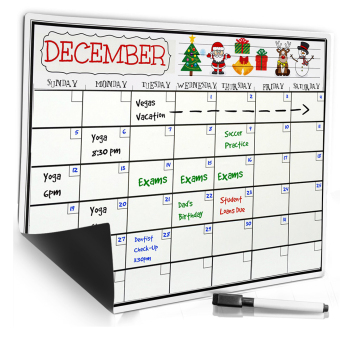 Smart Planner Kitchen Refrigerator Monthly Daily Schedule StickerDry Erase Flexible Magnetic Whiteboard/Menu Board/Messageboard/Memo Pad/Dialog Box Magnet