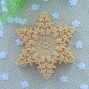 Snow Christmas handmade soap ice cream moon cake soap silicone Mold
