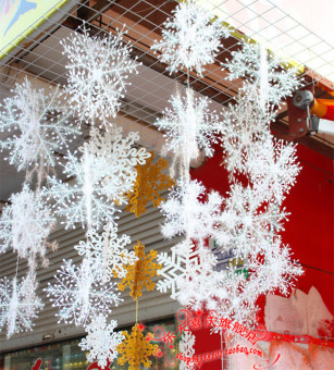 Snow plastic model snowflake piece window Christmas decorations