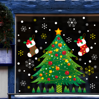 Snow shop glass window sticker wall adhesive paper