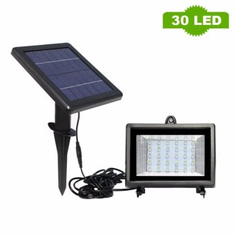 Solar Flooded Led Lamp 30 LEDs solar powered Lamp White OutdoorSolar Led Flood lights Solar LED Spotlights Garden Lamp - intl