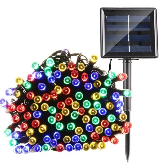 Solar Multi-color Lights 22m 200 LED Multi-color 8 Modes Solar Fairy String Lights For Outdoor Wedding Christmas Party - intl