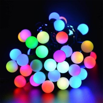 Solar Outdoor String Lights 30 LED Waterproof Ball Christmas Lamps Solar Powered Starry Fairy Light For Garden Yard Home Parties - intl