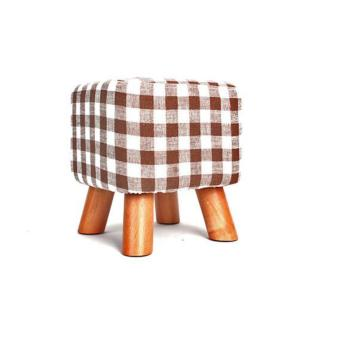 Square Stool Checkered with Legs