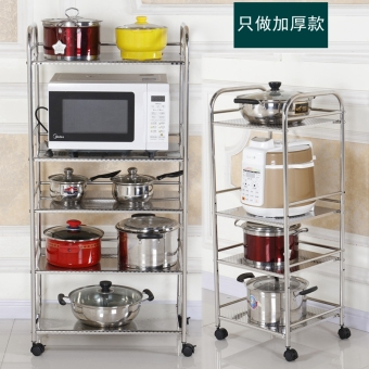 Stainless steel microwave oven shelf kitchen shelf