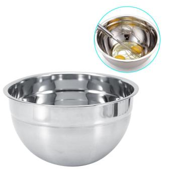 Stainless Steel Thicker Mixing Bowl With Lid Baking Kitchen Cooking Tools(26cm) - intl