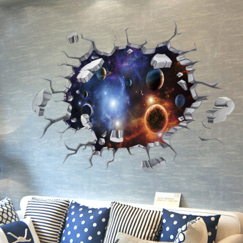 Star 3D ceiling roof living room wall adhesive paper