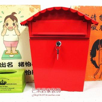 Style Garden wall with lock suggestion box newspaper boxes box