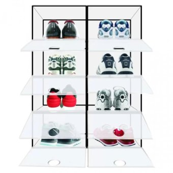 Sunnyware Shoe Mate Stackable Shoe Organizer x 4 with free LazyStant