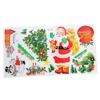 Sx10162 Christmas holiday flat wall stickers adhesive paper