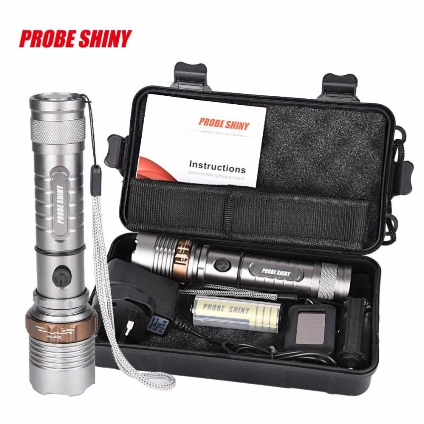 Tactical Flashlight LED Zoomable Torch Lamp X800 Light Kit shadowhawk - intl