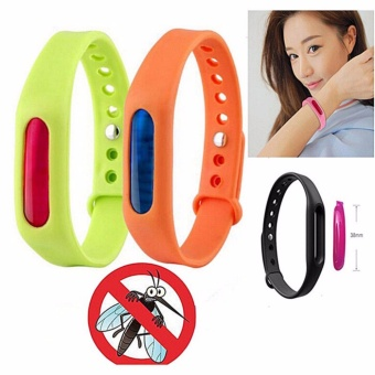 Than's Anti Mosquito Pest Insect Bugs Repellent Wrist Band BraceletWristband Set of 2 (Random Color)
