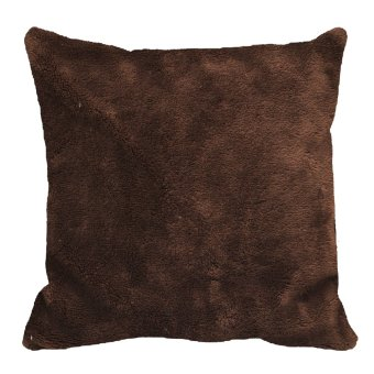 Throw Pillow Case Cover (Brown)