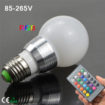 TopOne Retro LED Color Changing Light Bulb RGB Light with Remote Control Flash or Strobe Mode Energy Saving Lamps