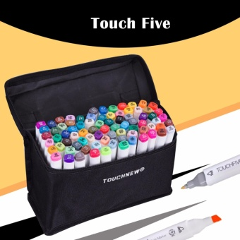 Touch Five Colors Graphic Art Twin Marker Point Tip Pen 60 Colors (White)
