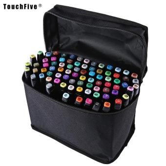 Touch Five Colors Graphic Art Twin Tip Marker Pen color:Blacksize:60pcs - intl