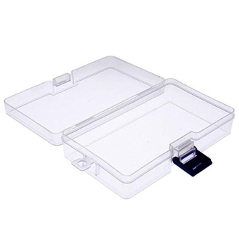 Transparent Clear Plastic Storage Box Cosmetics Jewelry CollectionCassette Cover Home Storage Organization Storage Box - intl
