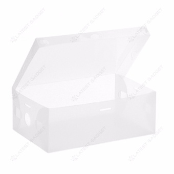 Transparent Shoe Box 33 x 20.5 x 12.5 cm (White)