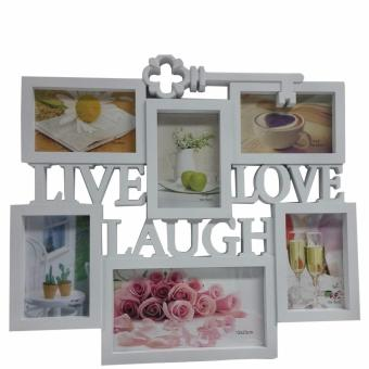 Ultralite 6-Pictures Live-Laugh-Love Collage Picture Frame (White)