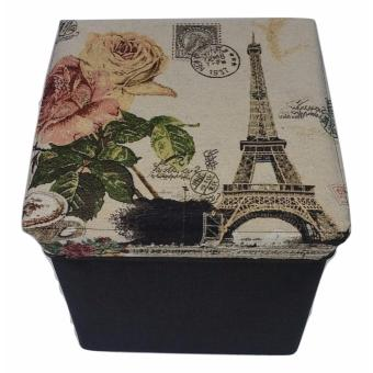 Ultralite Linen Ottoman Storage Box and Chair