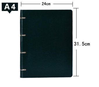 Upscale 4A Business Loose-leaf Notebook Leather Surface 5 Colors -intl