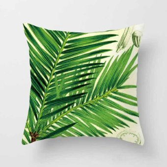 Vintage Flower Tropical Leaves Pillow Case Cushion Cover Home Decor #2 - intl