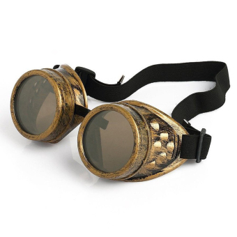 Vintage Steam-Punk Cyber Punk Gothic Welding Goggles Glasses Brass(Brown)