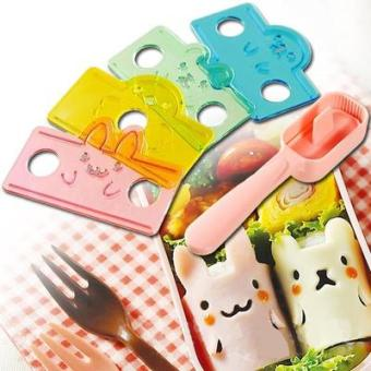 Volume volume small animal rice mold lunch set
