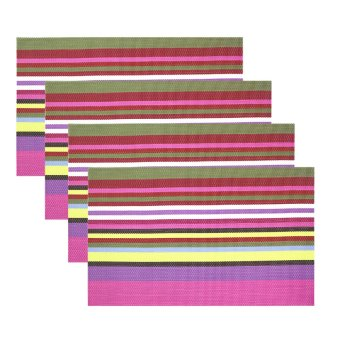 Wallmark Fashion Striped Placemat Set of 4 (G-P)